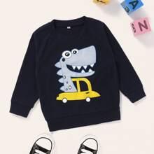 Sweatshirt mit Karikatur Grafik