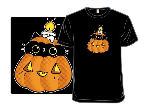 Pumpkin Black Cat T Shirt