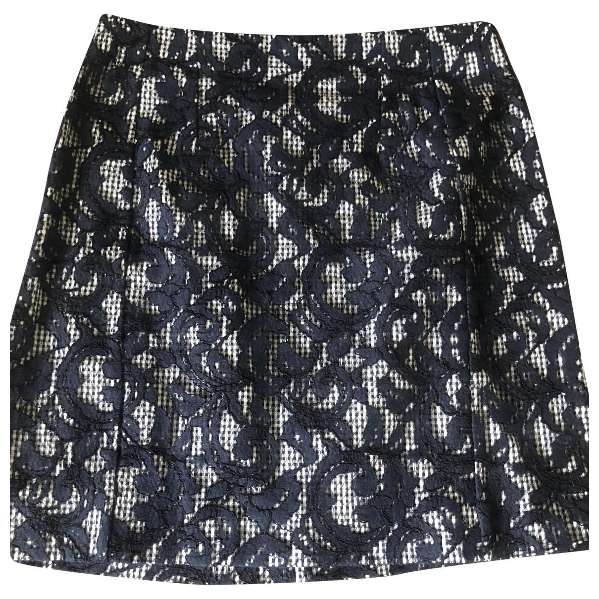 Carven - Jupe   pour femme en coton - bleu