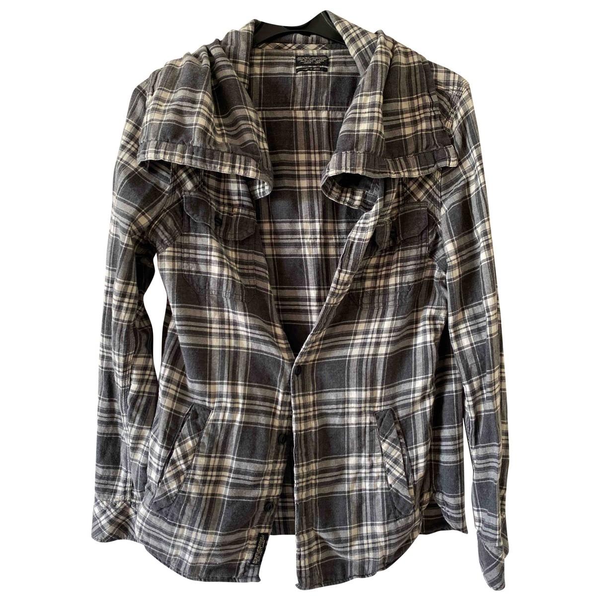 All Saints \N Hemden in  Grau Baumwolle