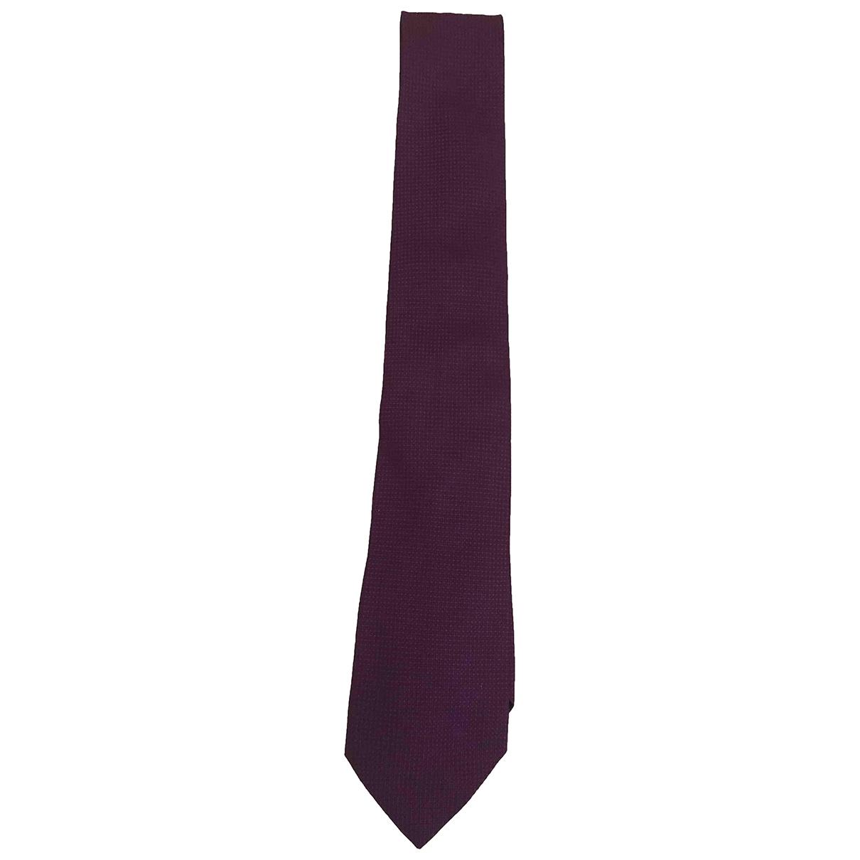 Massimo Dutti \N Krawatten in  Lila Baumwolle