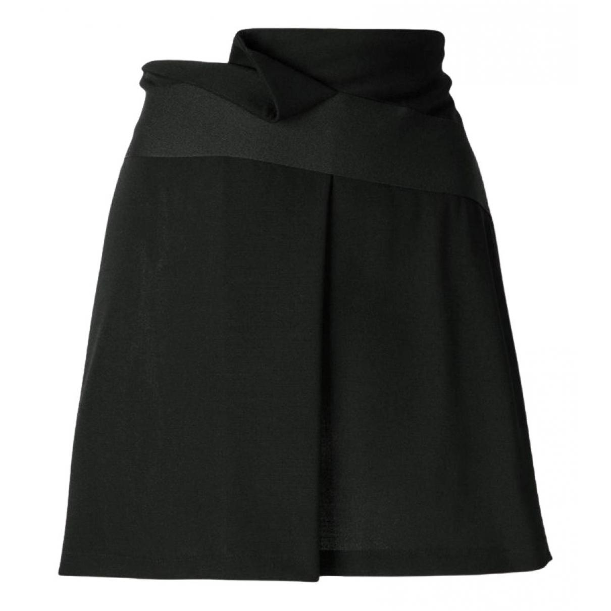 Emporio Armani - Jupe   pour femme en laine - noir