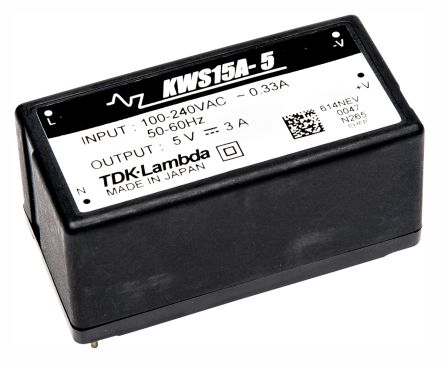 TDK-Lambda , 15W Embedded Switch Mode Power Supply SMPS, 5V dc, Encapsulated