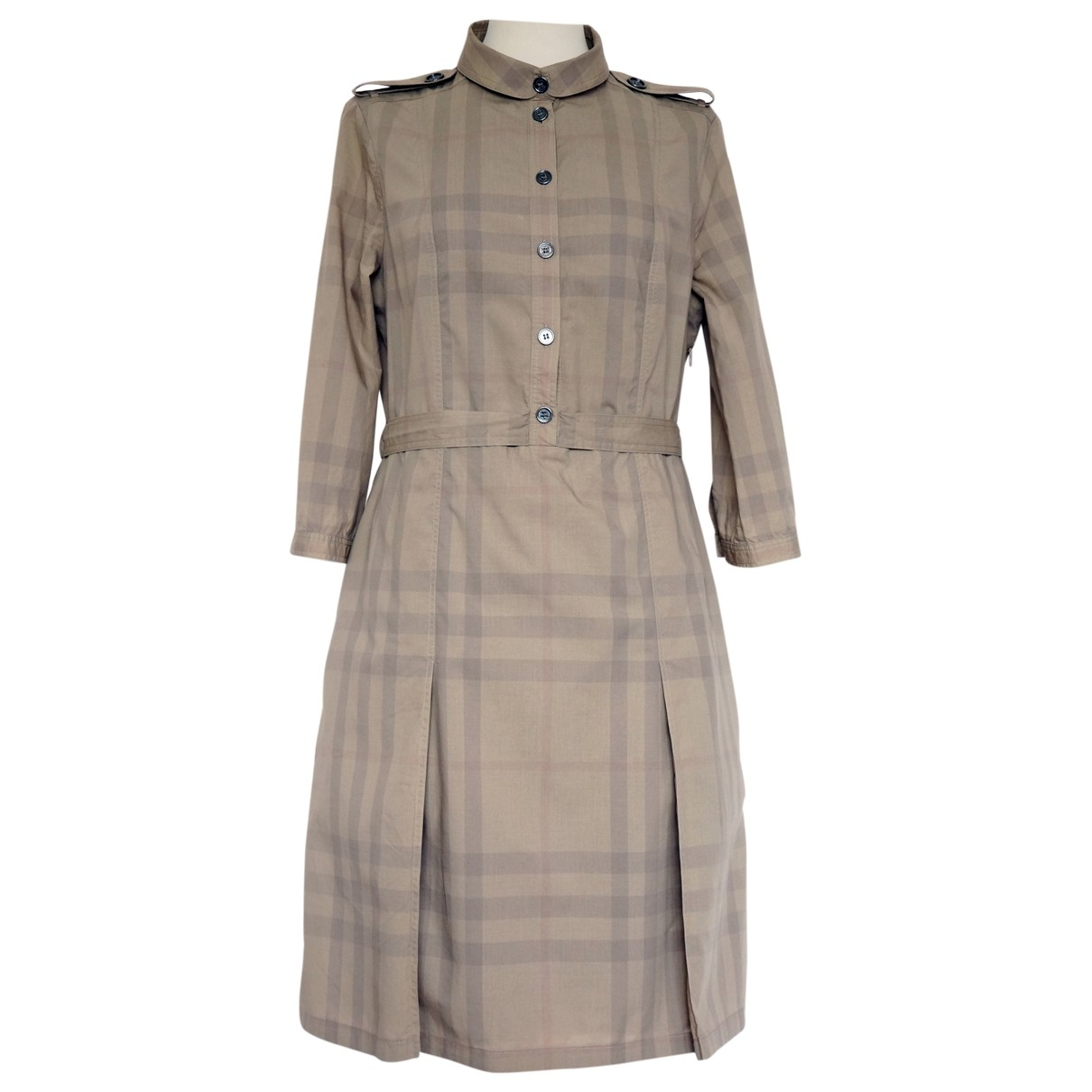 Burberry \N Beige Cotton dress for Women 12 UK