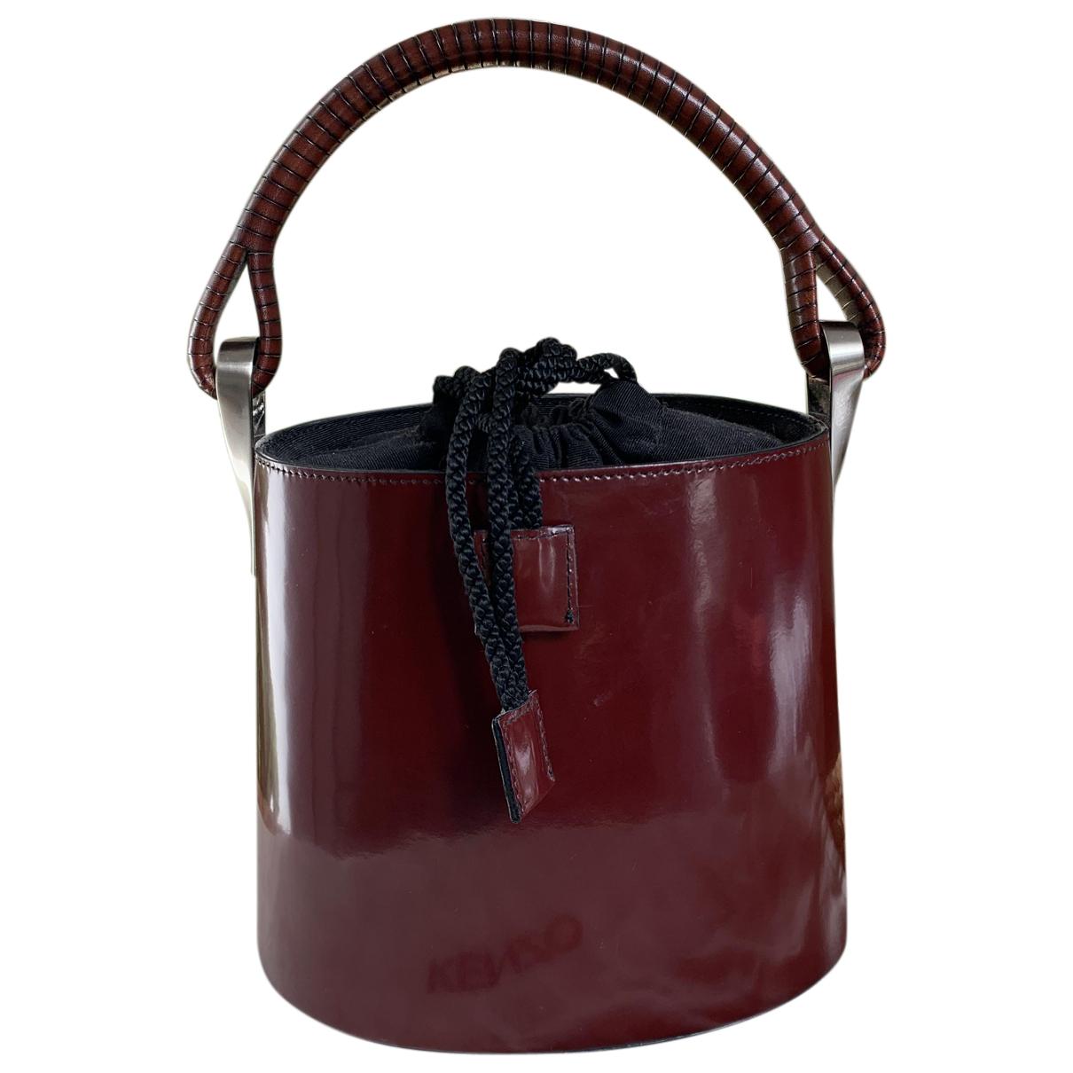 Kenzo Pagodon Handtasche in  Bordeauxrot Leder