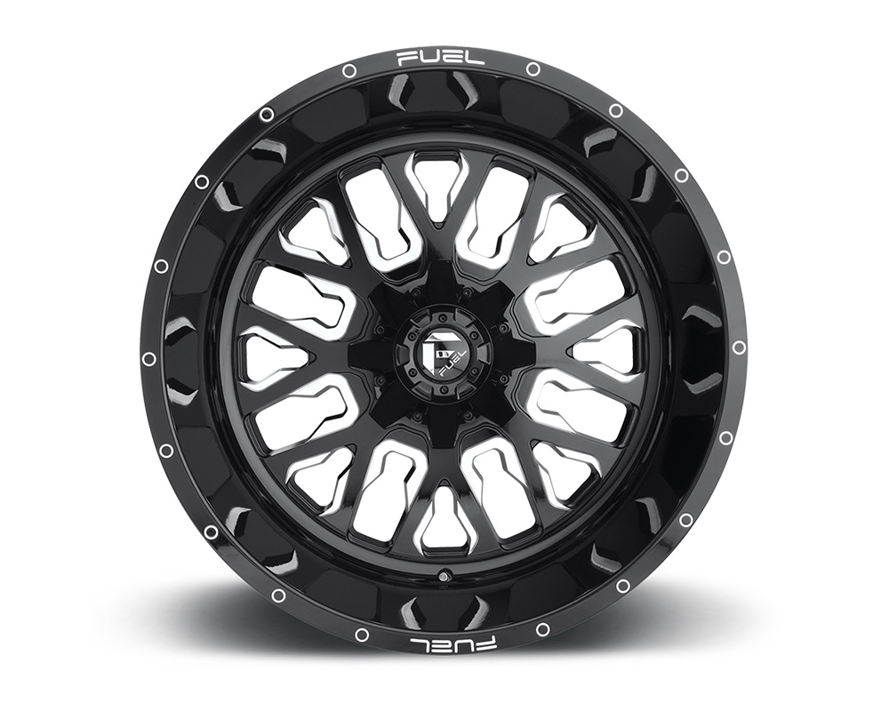 Fuel D611 Stroke Gloss Black & Milled 1-Piece Cast Wheel 20x9 5x139.7|5x150 01mm