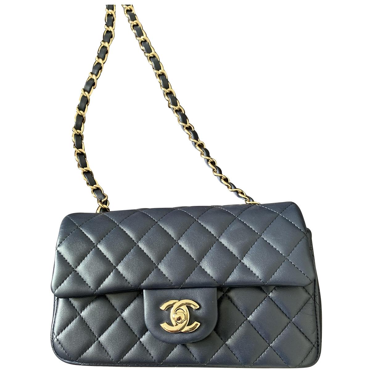 Chanel Timeless/Classique Blue Leather handbag for Women \N