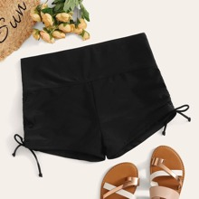 Plus Ruched Tie Side Swimming Shorts