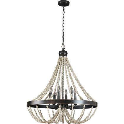 Iona Collection LPC4290 Ceiling Light with Iron and Rubber Wood Materials in Oil Rubbed Bronze