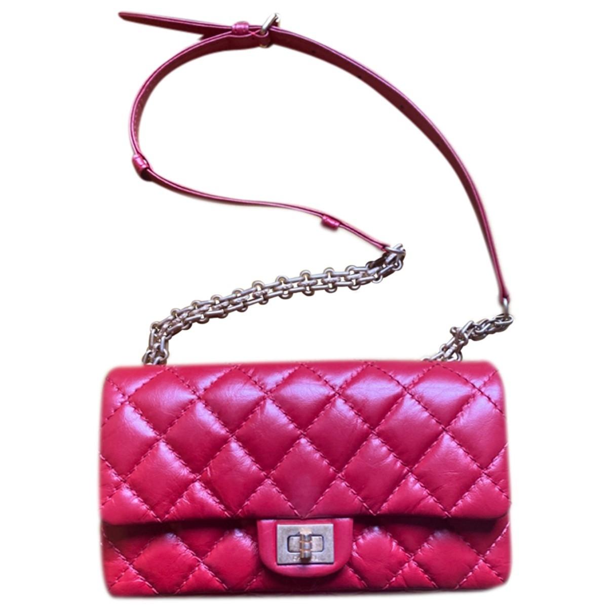 Chanel 2.55 Red Leather handbag for Women \N