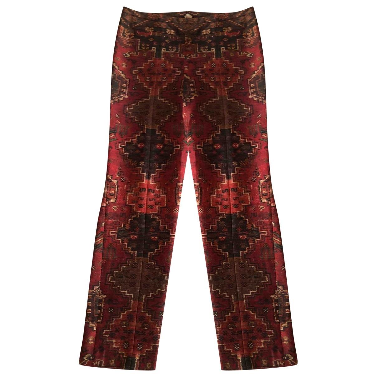Tory Burch \N Burgundy Wool Trousers for Women 6 US