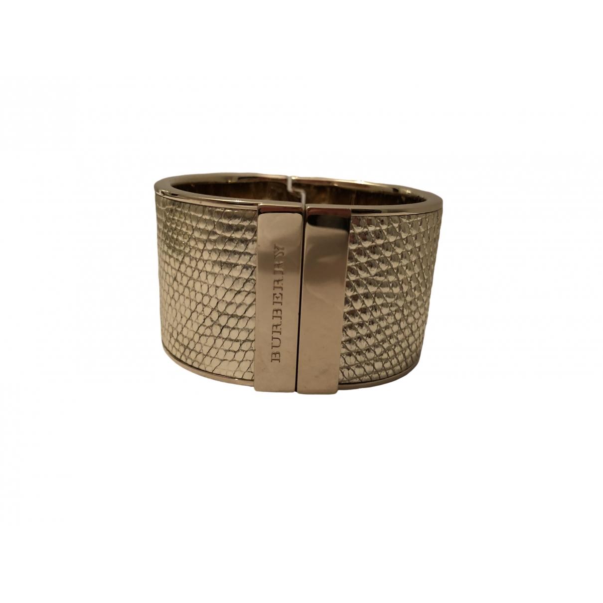 Burberry - Bracelet   pour femme en metal - dore