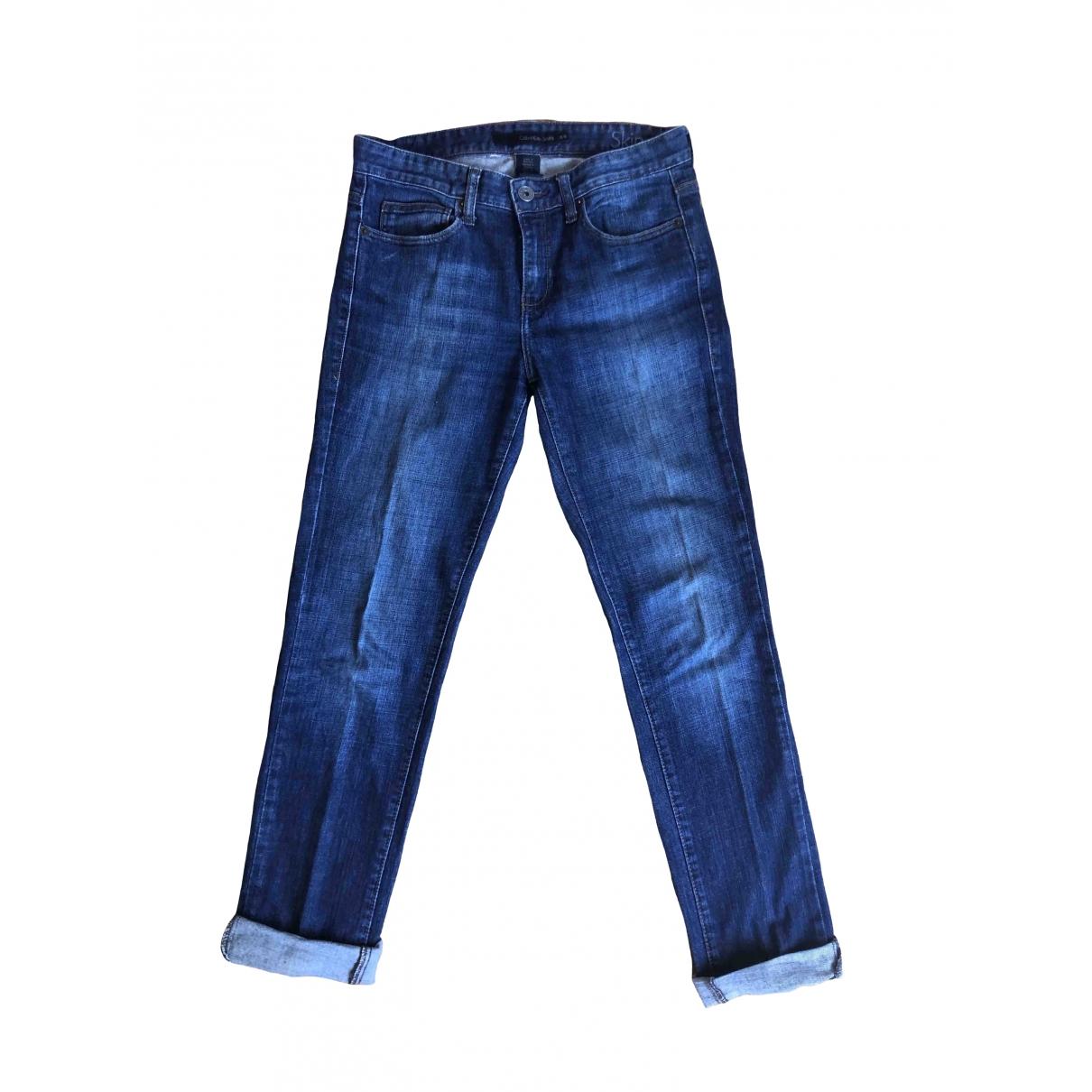 Calvin Klein \N Blue Cotton Jeans for Women 38 FR