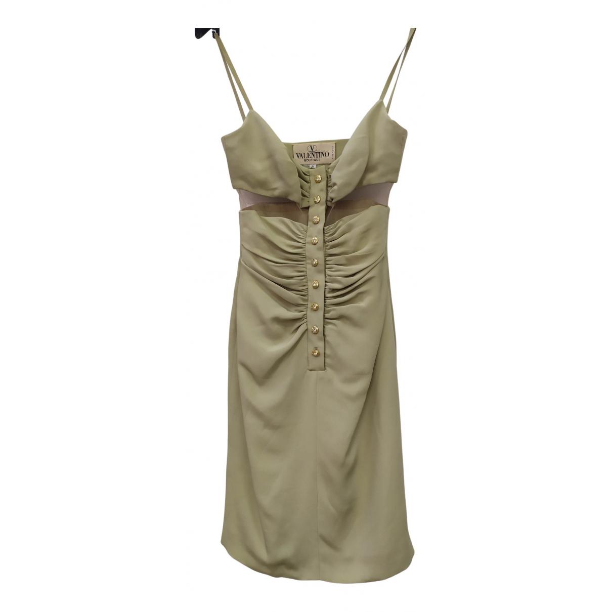 Valentino Garavani - Robe   pour femme en soie - vert