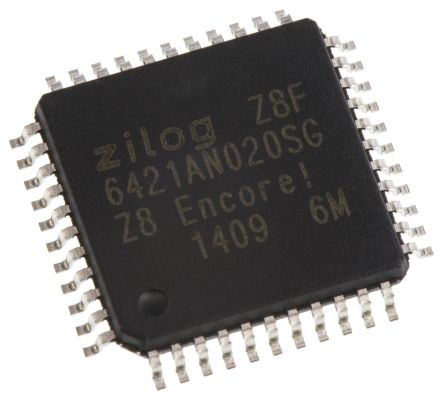 Zilog Z8F6421AN020SG, 8bit Z8 Microcontroller, Z8 Encore! XP, 20MHz, 64 kB Flash, 44-Pin LQFP