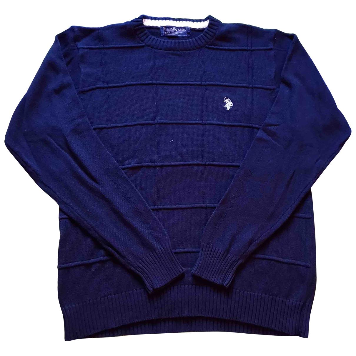 - Pulls.Gilets.Sweats Oversize pour homme en coton - bleu