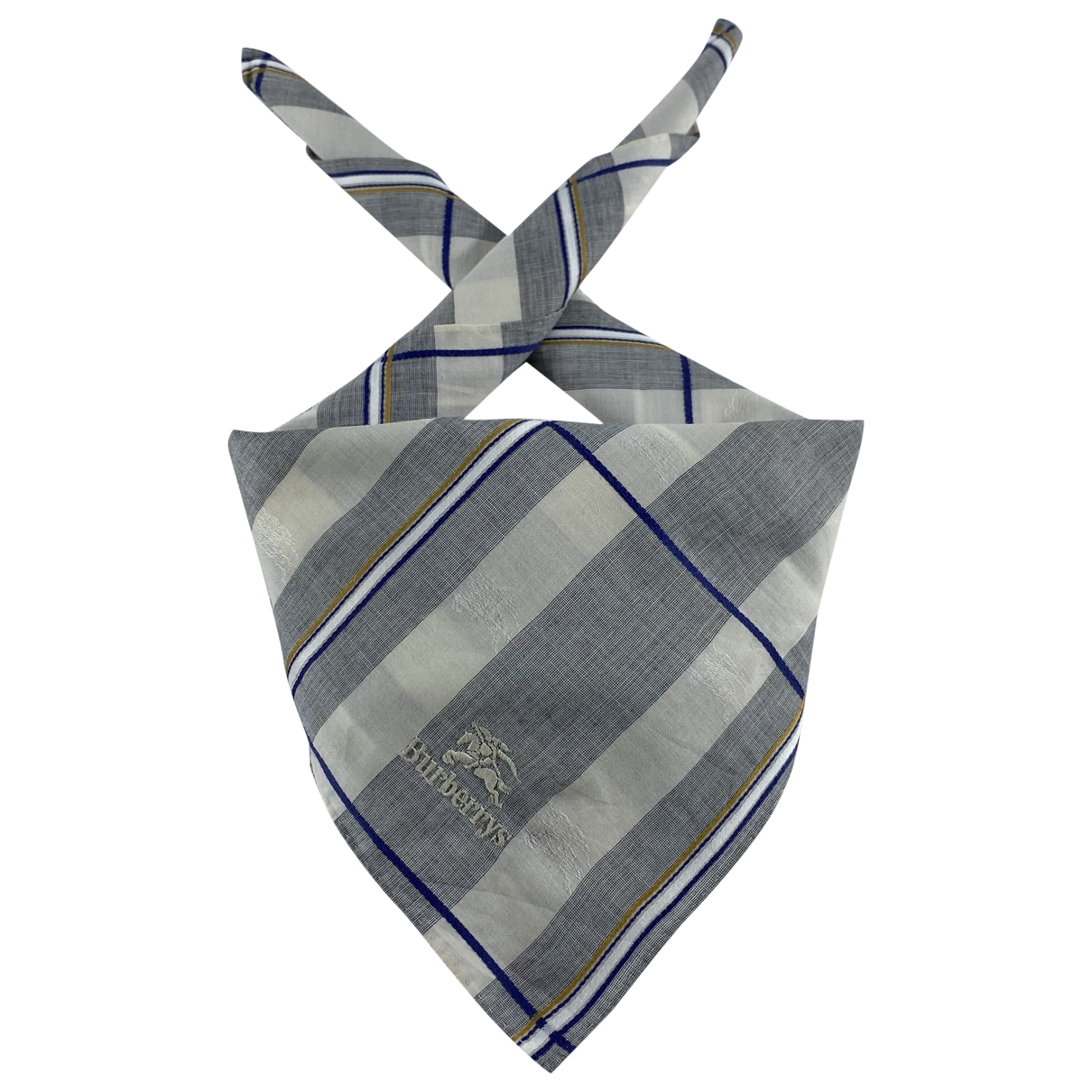 Burberry \N Grey Cotton scarf for Women \N