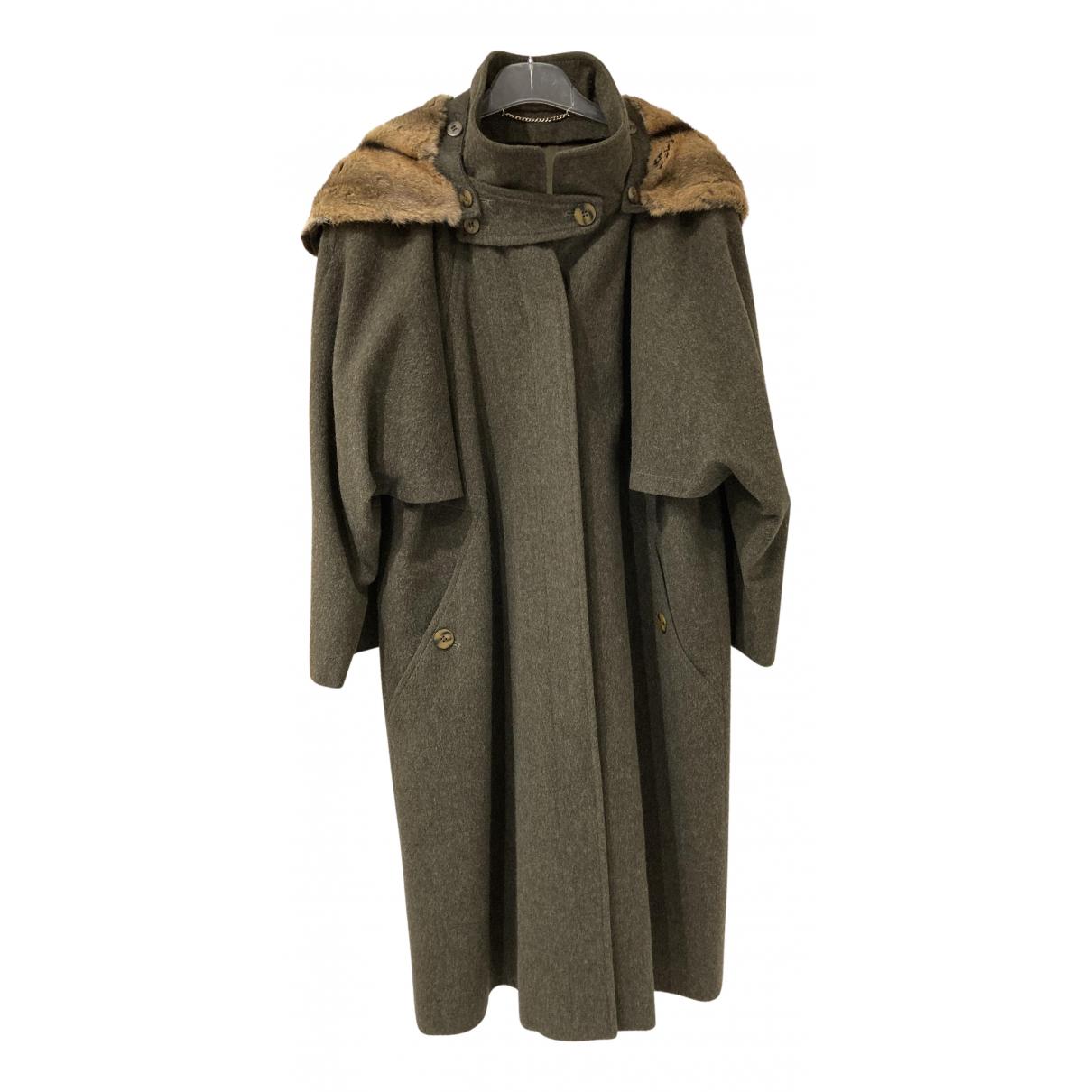 - Manteau   pour femme en fourrure - kaki