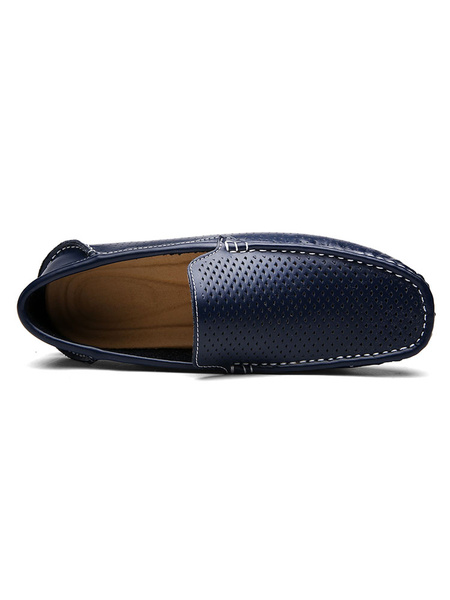 Milanoo Mocasines de mocasin transpirables para hombres Zapatos de conduccion sin cordones