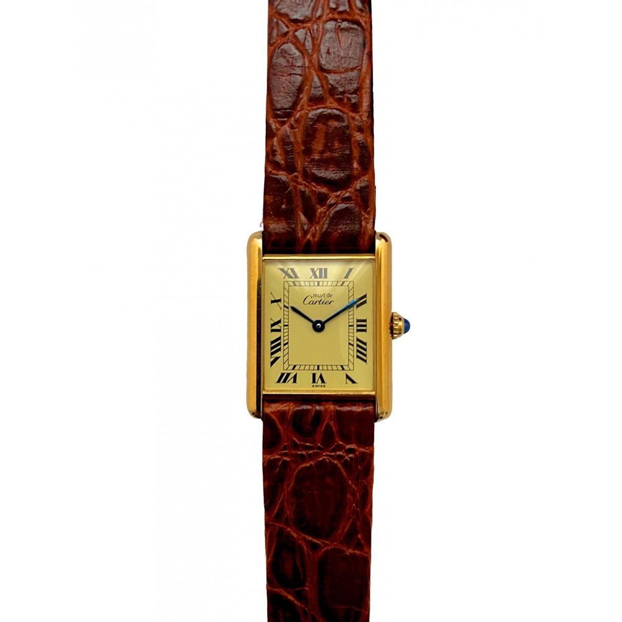 Cartier Tank Must Uhr in  Gold Vermeil
