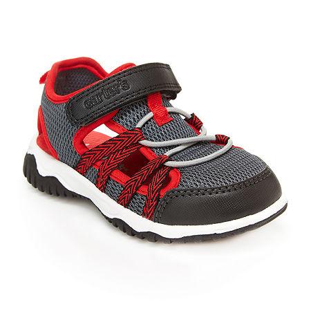 Carter's Toddler Boys Monroe-B Flat Sandals, 9 Medium, Gray