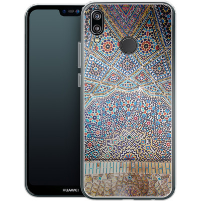 Huawei P20 Lite Silikon Handyhuelle - Iranian Mosaic von Omid Scheybani