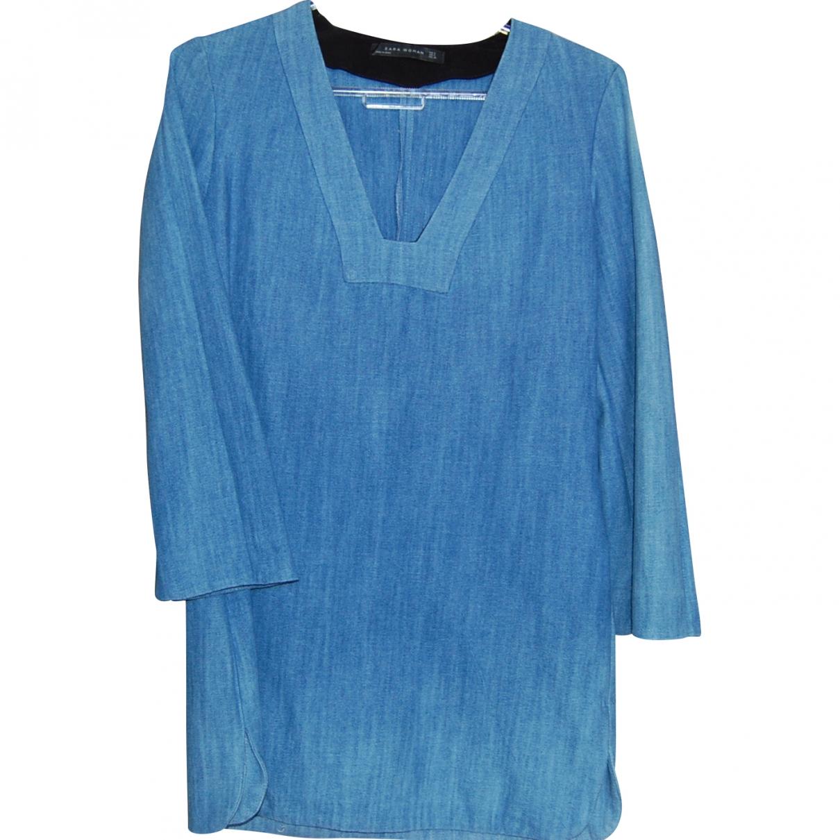 Zara \N Top in  Blau Denim - Jeans