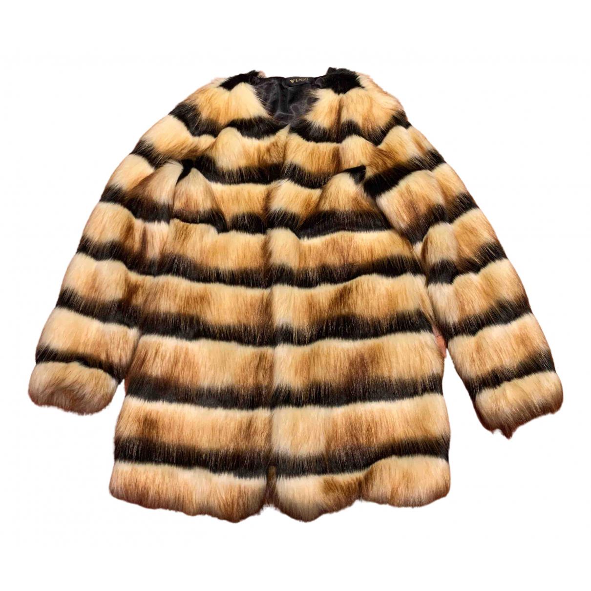 Non Signé / Unsigned N Multicolour Faux fur coat for Women S International
