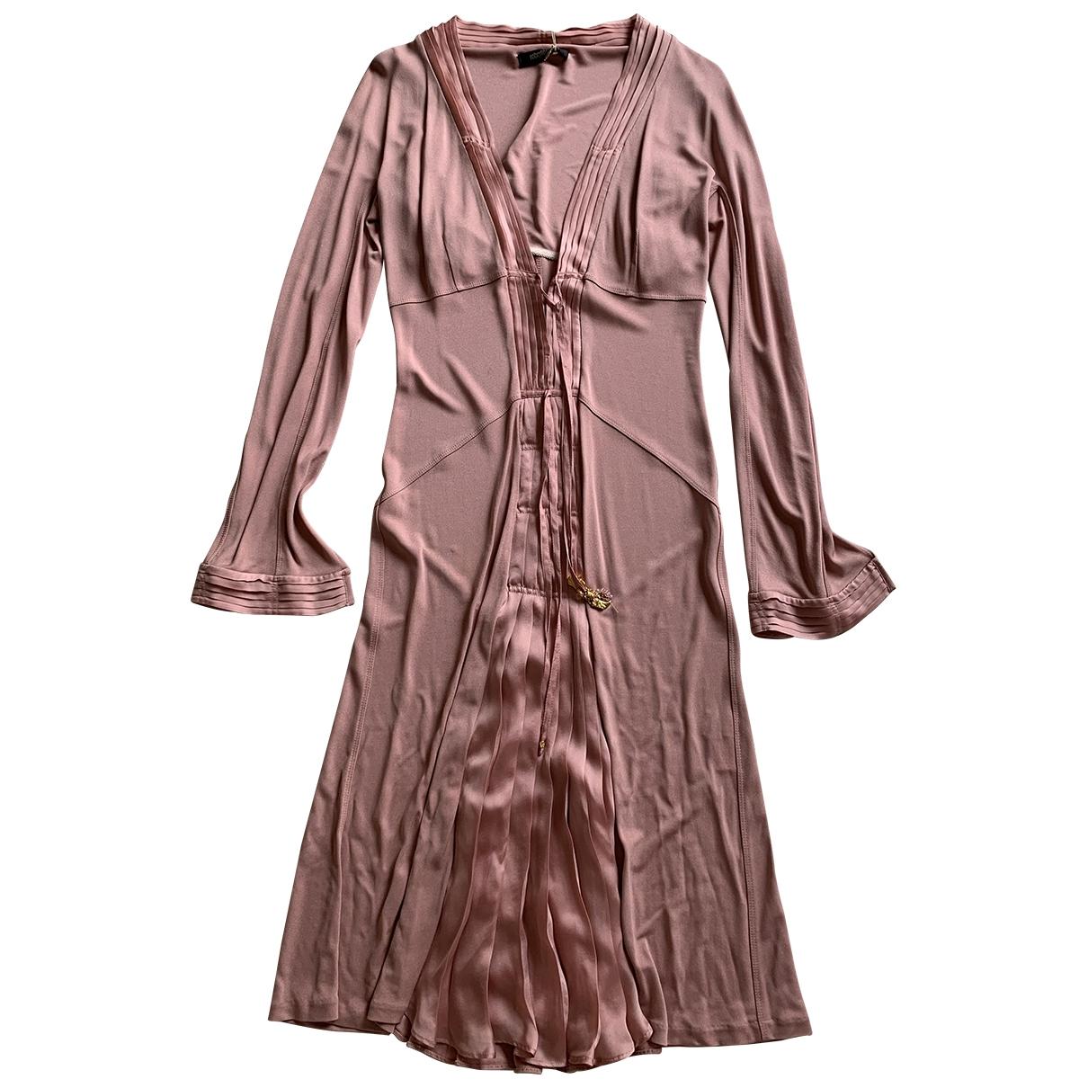 Roberto Cavalli \N Pink Silk dress for Women 42 IT
