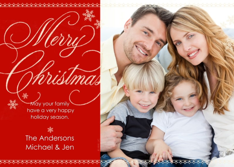 Christmas Photo Cards 5x7 Cards, Premium Cardstock 120lb, Card & Stationery -Chalkboard Merry Christmas