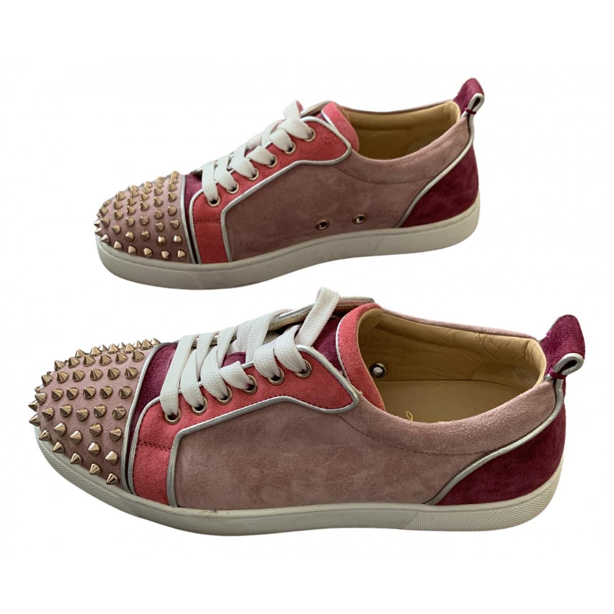 Christian Louboutin Louis Sneakers in  Rosa Leder