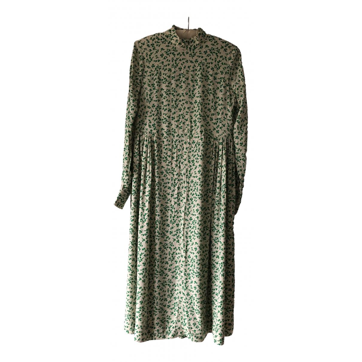 Ganni - Robe Fall Winter 2019 pour femme - vert