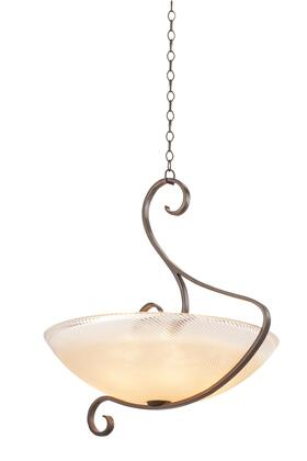 G-Cleft 4066AC/ANTQ 5-Light Pendant in Antique Copper with Antique Filigree Standard Bowl Glass