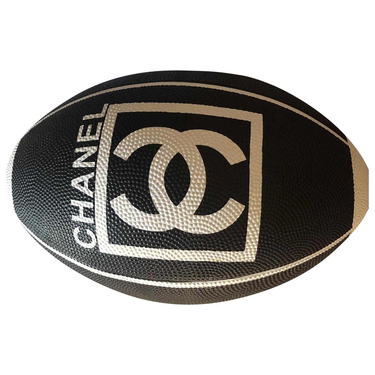 Chanel \N Baelle in  Schwarz Leder