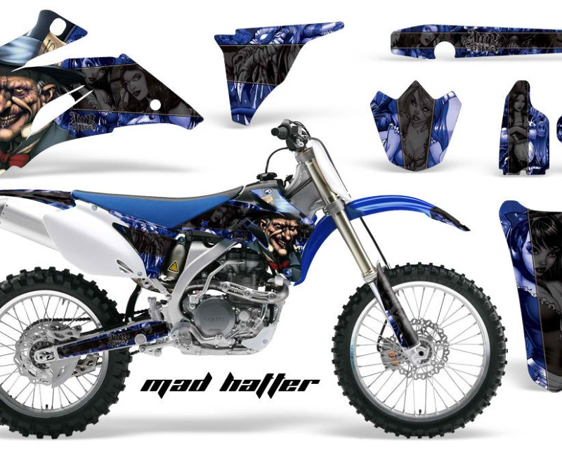 AMR Racing Dirt Bike Graphics Kit Decal Wrap For Yamaha YZ250F YZ450F 2006-2009áHATTER BLACK BLUE