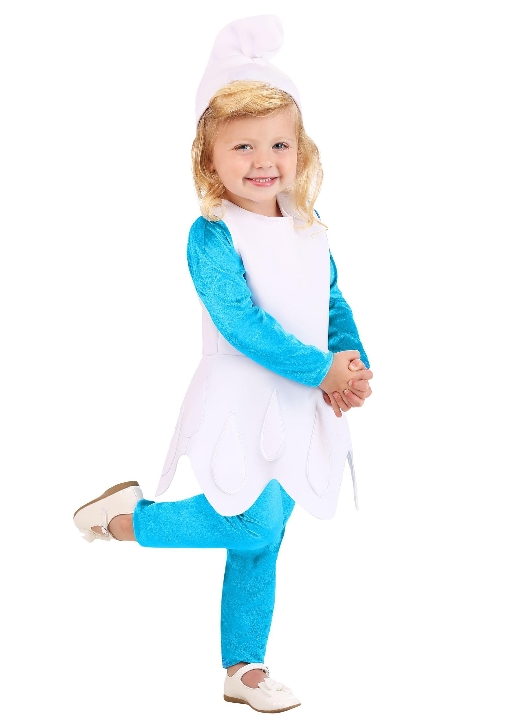 Toddler Girls The Smurfs Smurfette Costume