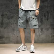 Pantalones cortos para hombre Bolsillo Letras Gris Calle