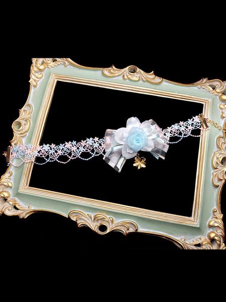 Milanoo Sweet Lolita Necklace Bows Flower Lolita Jewelry