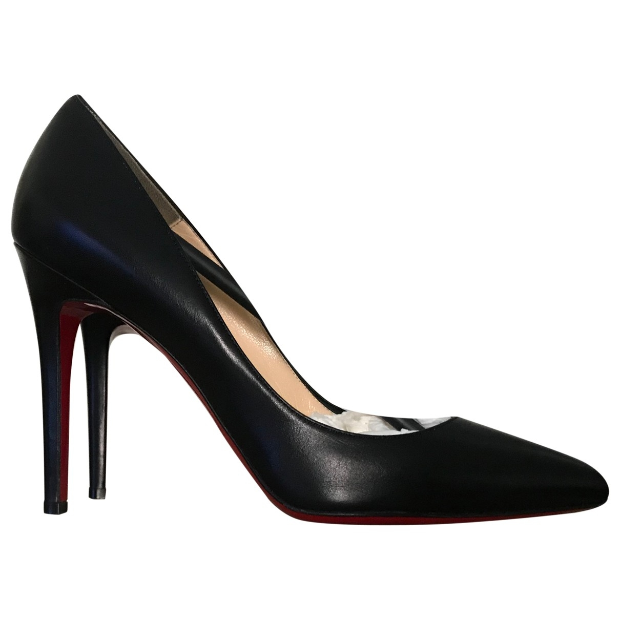 Christian Louboutin Pigalle Black Leather Heels for Women 39 EU