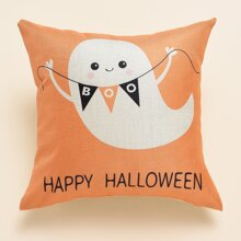 Kissenbezug mit Halloween Muster ohne Fuellstoff