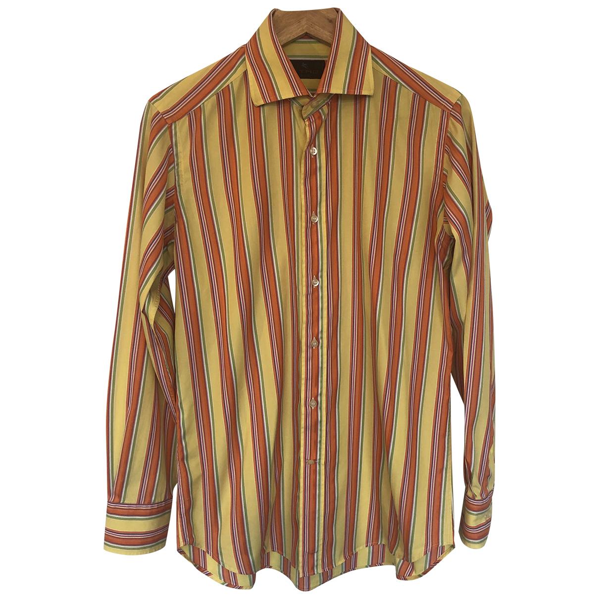 Etro N Multicolour Cotton Shirts for Men 38 EU (tour de cou / collar)