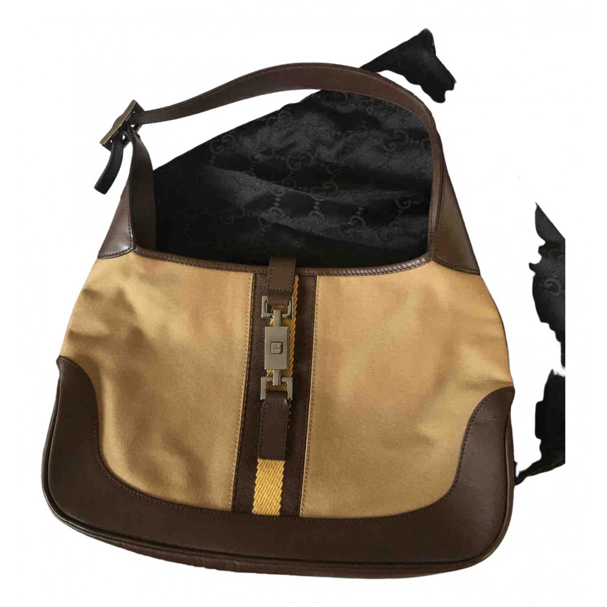 Gucci Jackie Vintage  Brown Leather handbag for Women N