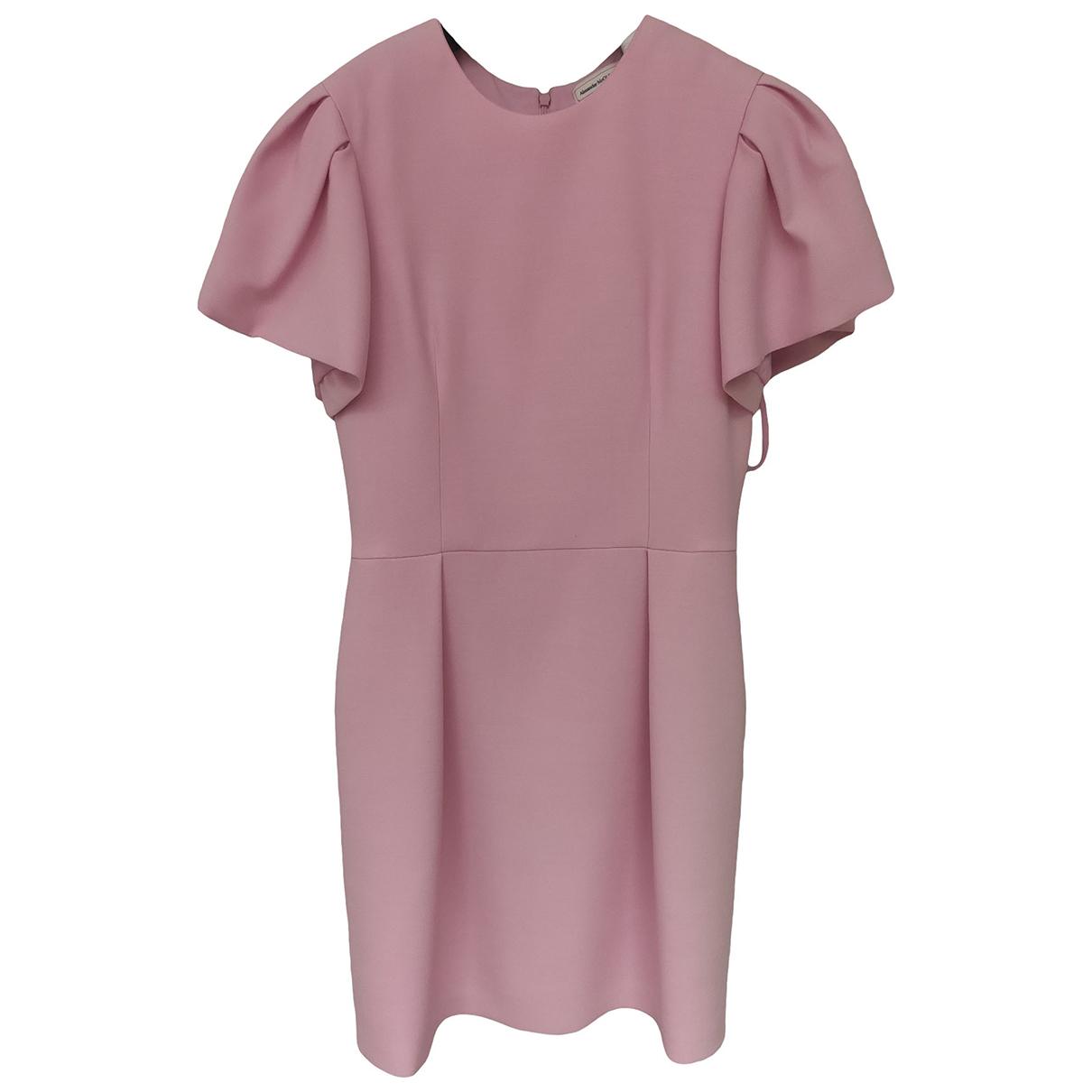 Alexander Mcqueen - Robe   pour femme en laine - rose