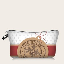 Christmas Pattern Makeup Bag