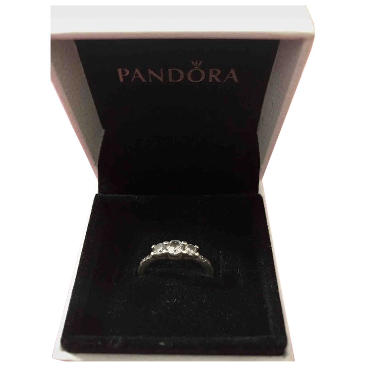 Pandora \N Grey Metal ring for Women \N