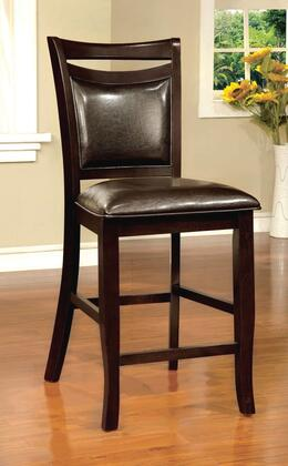 Woodside II Collection CM3024PC-2PK Set of 2 Counter Height Chair with Padded Leatherette Seat in Espresso