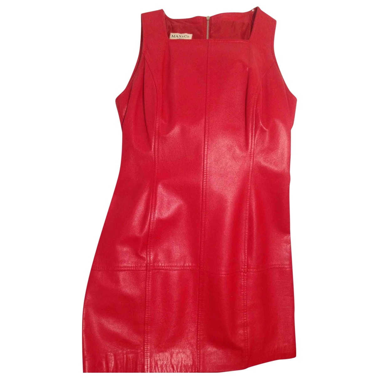 Max & Co \N Red Leather dress for Women 40 IT