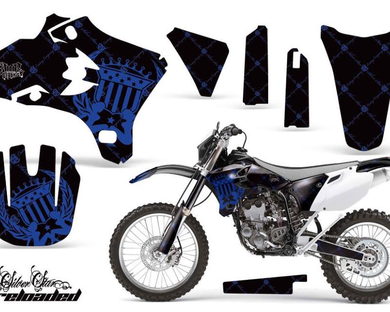 AMR Racing Dirt Bike Graphics Kit Decal Wrap For Yamaha WR250 WR450F 2005-2006áRELOADED BLUE BLACK