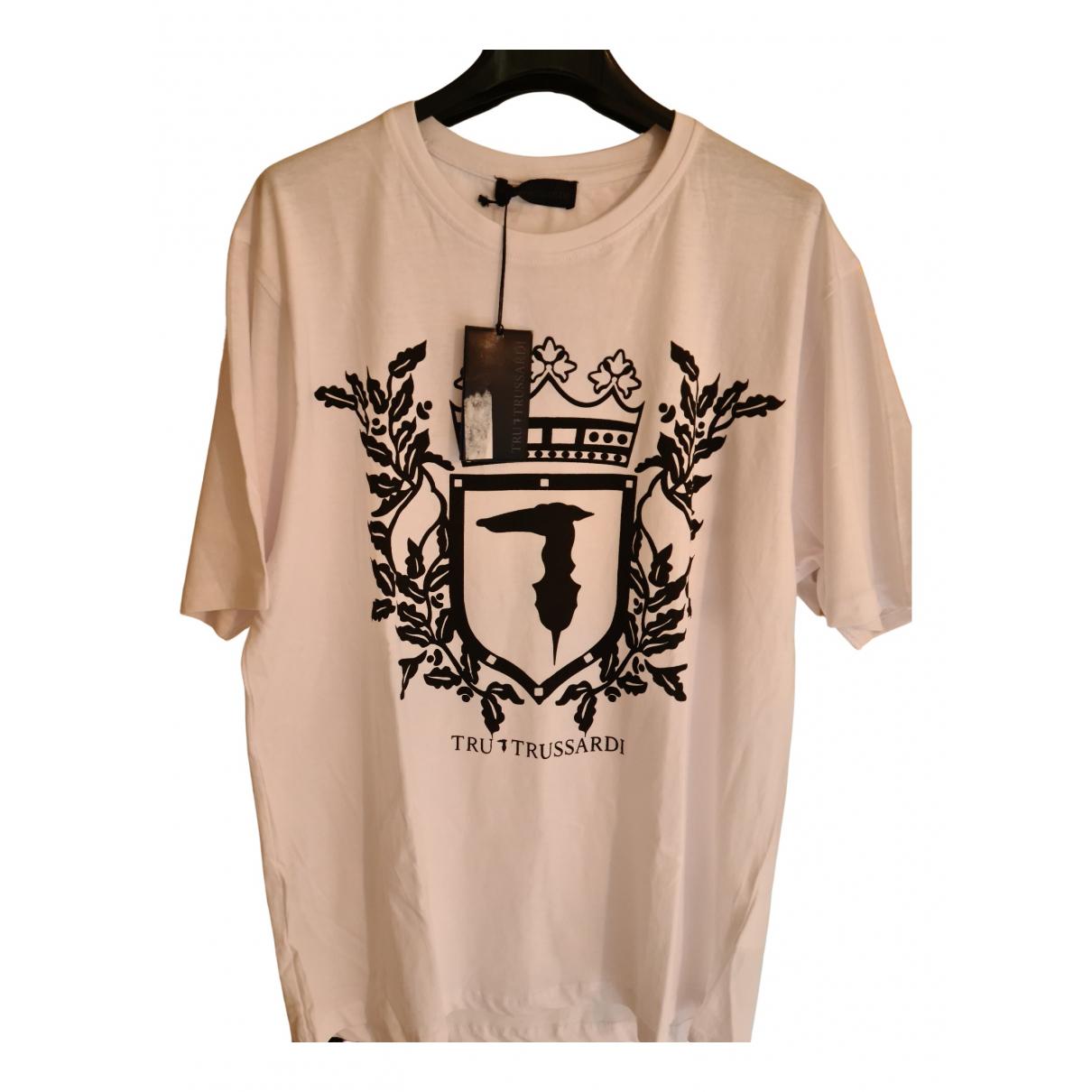 Trussardi N White Cotton T-shirts for Men XXL International