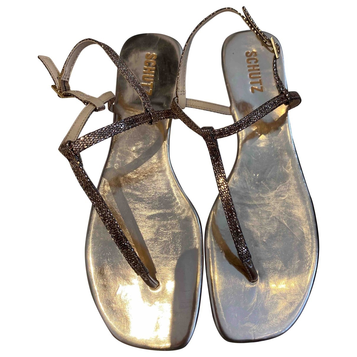 Schutz - Sandales   pour femme en cuir - dore
